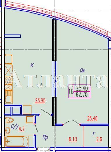 Продается 1-комнатная квартира в новострое на ул. Аркадиевский Пер. — 77 000 у.е. (фото №3)