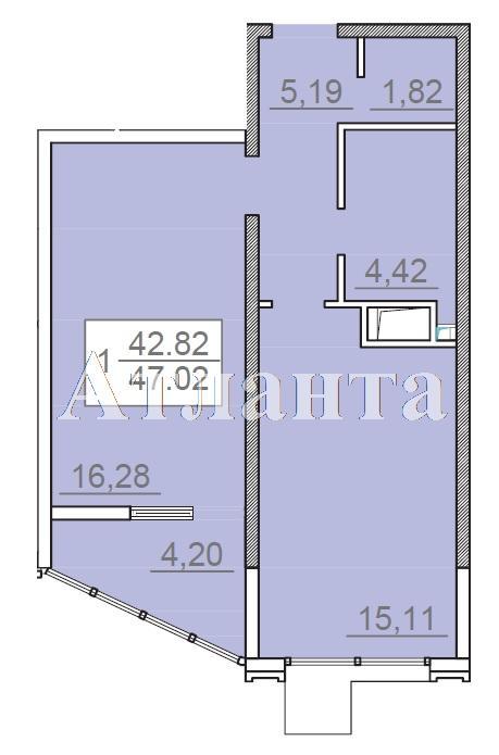 Продается 1-комнатная квартира в новострое на ул. Итальянский Бул. — 58 800 у.е. (фото №3)