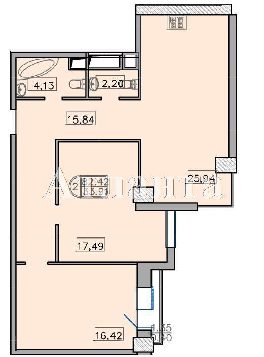 Продается 2-комнатная квартира в новострое на ул. Французский Бул. — 139 000 у.е. (фото №2)