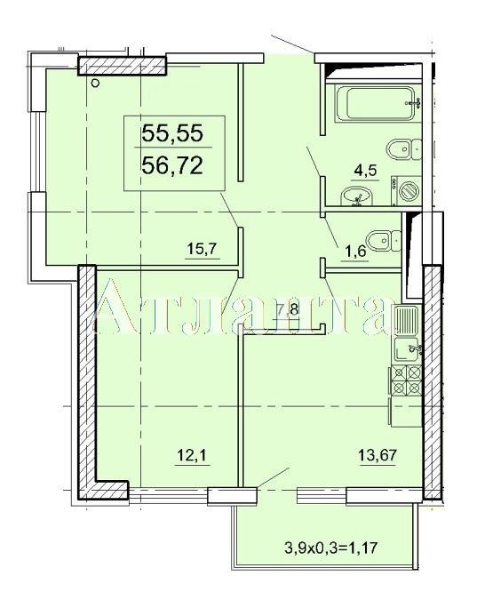 Продается 2-комнатная квартира в новострое на ул. Педагогическая — 44 100 у.е.