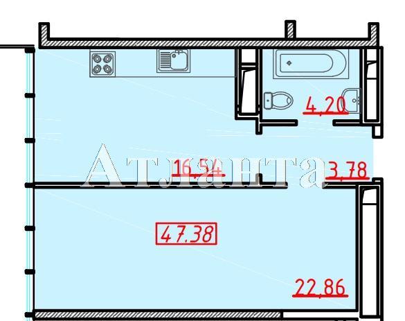Продается 1-комнатная квартира в новострое на ул. Большая Арнаутская — 64 300 у.е.