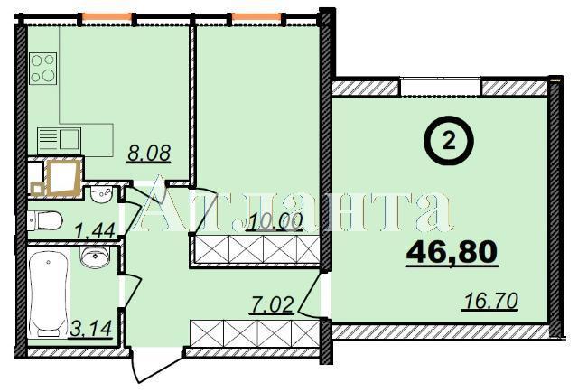 Продается 2-комнатная квартира в новострое на ул. Болгарская — 33 500 у.е.