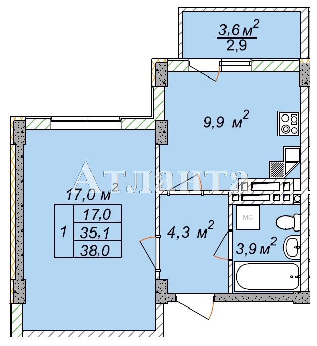 Продается 1-комнатная квартира в новострое на ул. Рихтера Святослава — 25 000 у.е.
