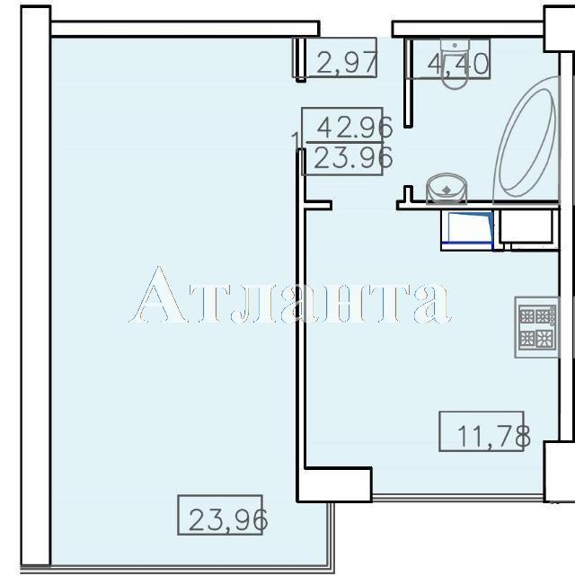 Продается 1-комнатная квартира в новострое на ул. Французский Бул. — 69 500 у.е. (фото №3)