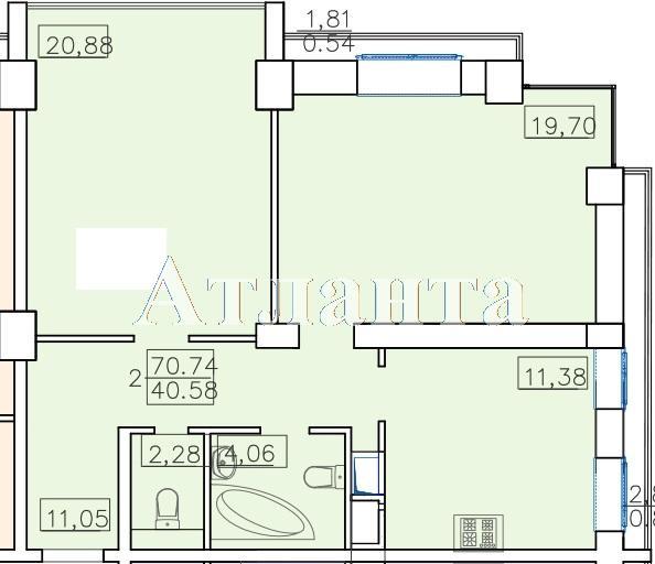 Продается 2-комнатная квартира в новострое на ул. Французский Бул. — 96 000 у.е.
