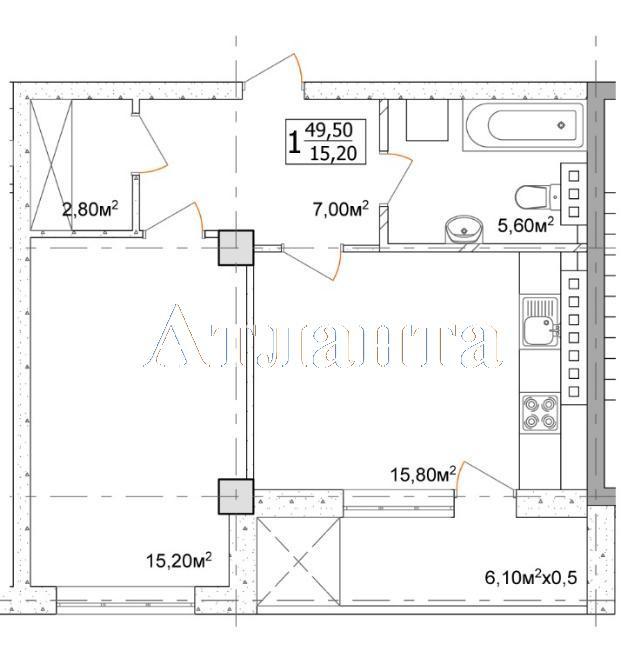 Продается 1-комнатная квартира в новострое на ул. Дача Ковалевского — 39 600 у.е. (фото №4)