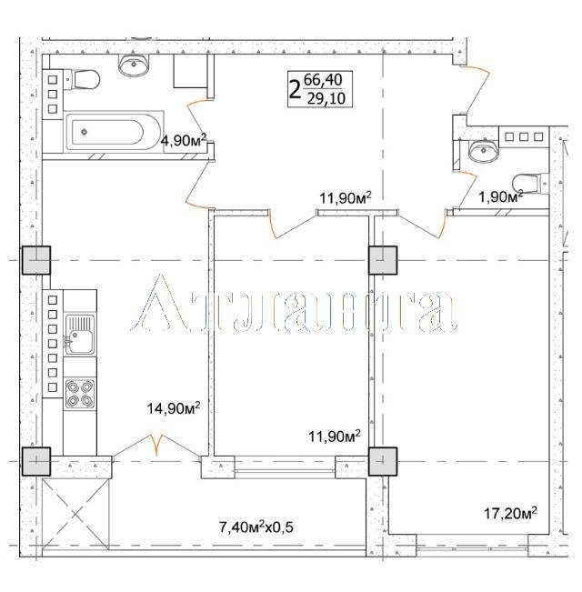 Продается 2-комнатная квартира в новострое на ул. Дача Ковалевского — 46 480 у.е. (фото №4)
