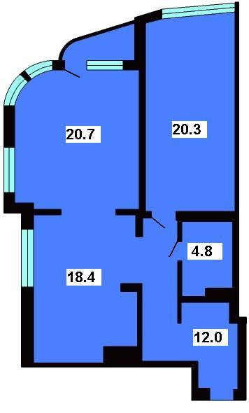 Продается 2-комнатная квартира в новострое на ул. Маразлиевская — 108 640 у.е.