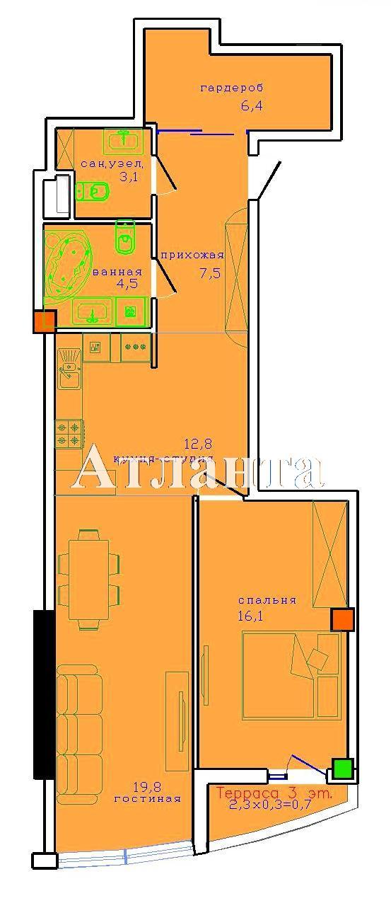 Продается 2-комнатная квартира в новострое на ул. Французский Бул. — 103 000 у.е. (фото №2)