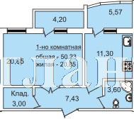Продается 1-комнатная квартира в новострое на ул. Педагогическая — 47 720 у.е.
