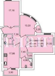 Продается 3-комнатная квартира в новострое на ул. Педагогическая — 95 690 у.е.
