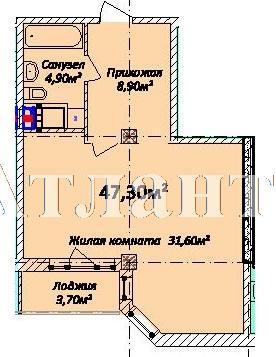 Продается 1-комнатная квартира в новострое на ул. Осипова — 70 350 у.е. (фото №3)