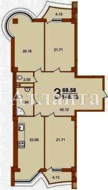 Продается 3-комнатная квартира в новострое на ул. Жуковского — 170 880 у.е.