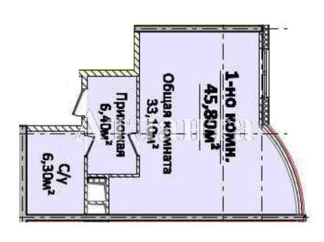 Продается 1-комнатная квартира в новострое на ул. Новобереговая — 60 150 у.е.