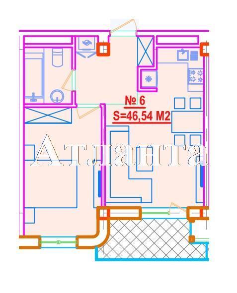 Продается 1-комнатная квартира в новострое на ул. Азарова Вице Адм. — 88 840 у.е. (фото №3)