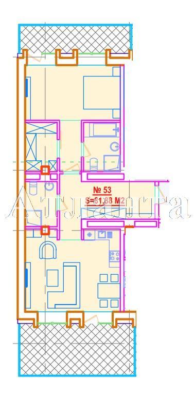Продается 1-комнатная квартира в новострое на ул. Азарова Вице Адм. — 171 950 у.е.