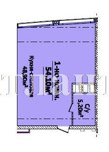 Продается 1-комнатная квартира в новострое на ул. Новобереговая — 64 920 у.е.