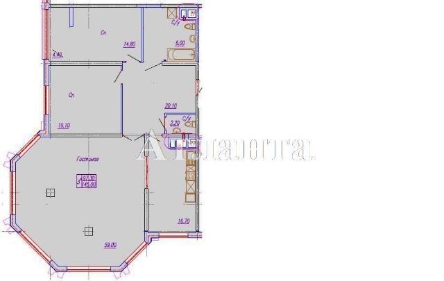 Продается 3-комнатная квартира в новострое на ул. Аркадиевский Пер. — 217 500 у.е. (фото №2)