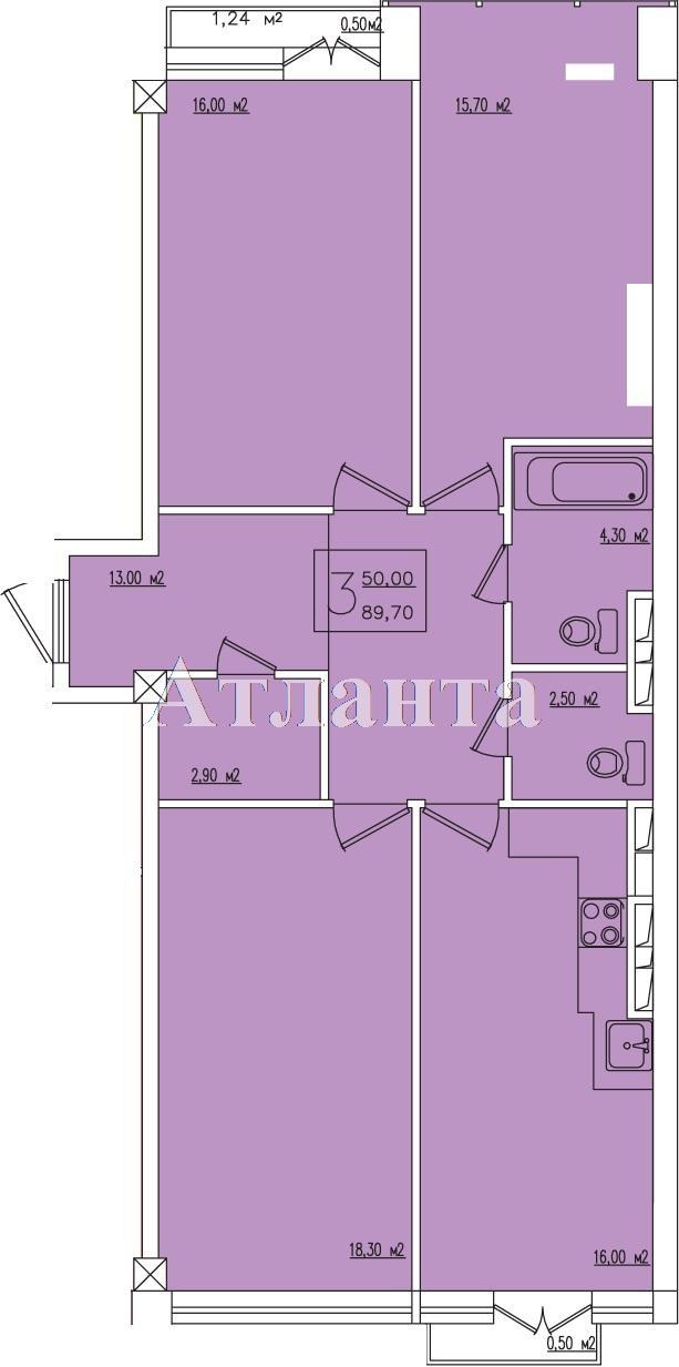 Продается 3-комнатная квартира в новострое на ул. Жм Дружный — 77 600 у.е.