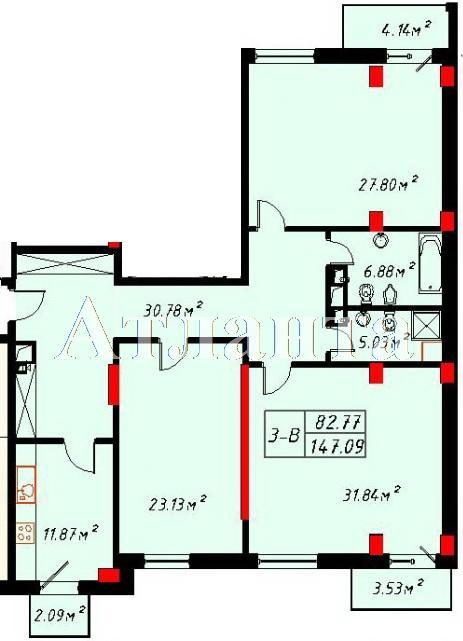 Продается 3-комнатная квартира в новострое на ул. Отрадная — 235 000 у.е. (фото №2)