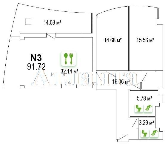 Продается 2-комнатная квартира в новострое на ул. Ванный Пер. — 124 000 у.е. (фото №17)
