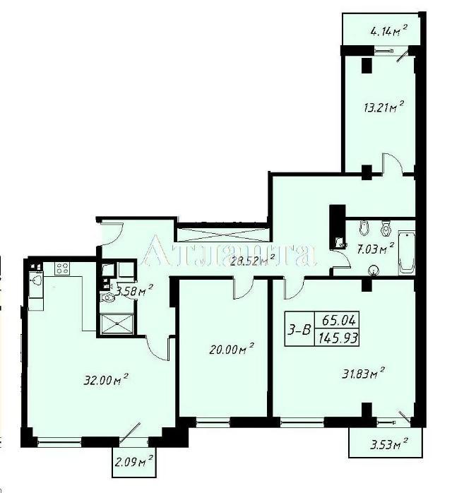 Продается 3-комнатная квартира в новострое на ул. Отрадная — 297 000 у.е.