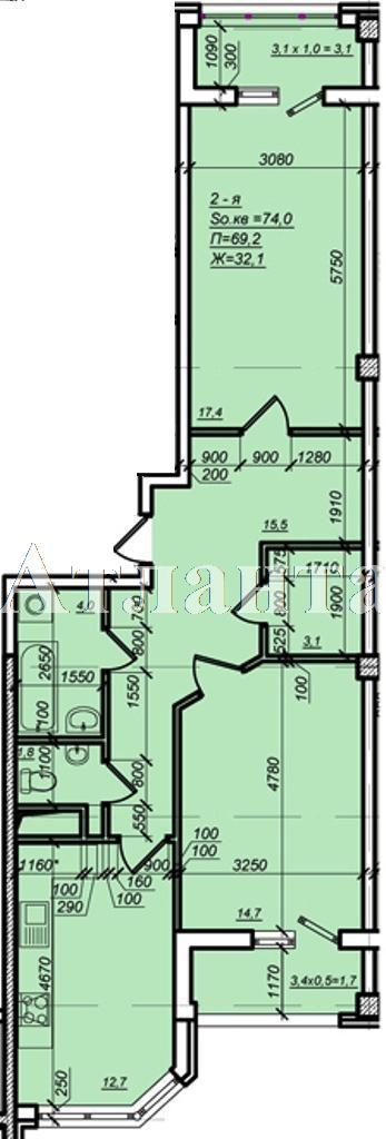 Продается 2-комнатная квартира в новострое на ул. Дюковская — 52 000 у.е.