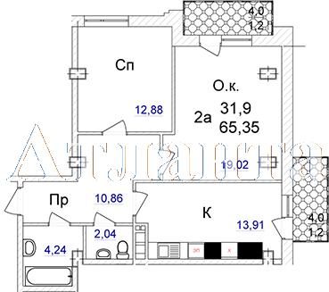 Продается 2-комнатная квартира в новострое на ул. Отрадная — 77 600 у.е.
