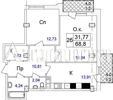 Продается 2-комнатная квартира в новострое на ул. Отрадная — 91 420 у.е.