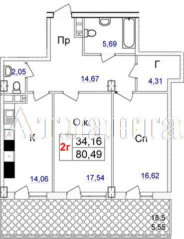 Продается 2-комнатная квартира в новострое на ул. Отрадная — 106 680 у.е.