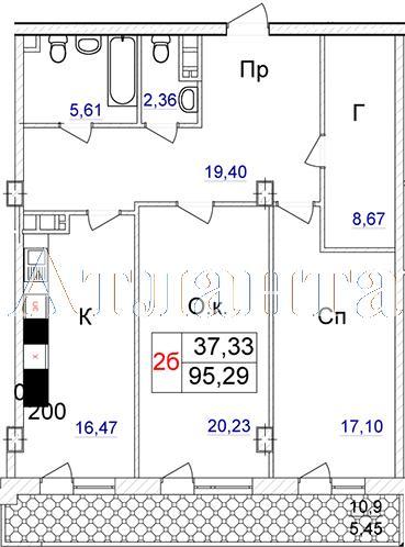 Продается 2-комнатная квартира в новострое на ул. Отрадная — 100 220 у.е.