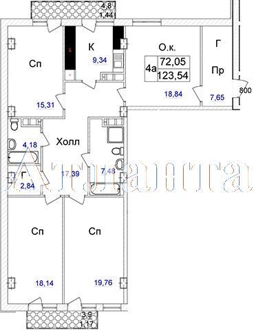 Продается 4-комнатная квартира в новострое на ул. Отрадная — 122 280 у.е.