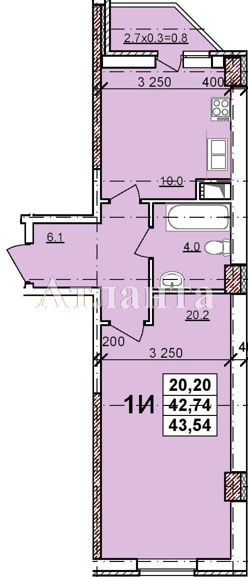 Продается 1-комнатная квартира в новострое на ул. Балковская — 27 350 у.е.