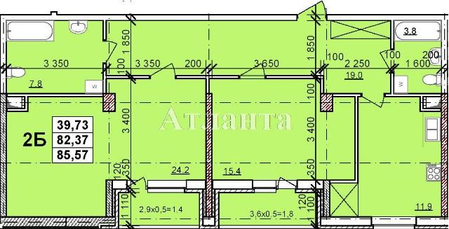Продается 2-комнатная квартира в новострое на ул. Балковская — 46 850 у.е.