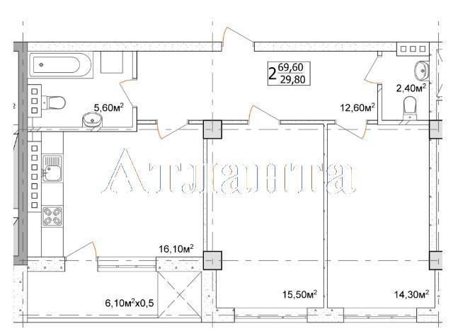 Продается 2-комнатная квартира в новострое на ул. Дача Ковалевского — 59 600 у.е. (фото №4)