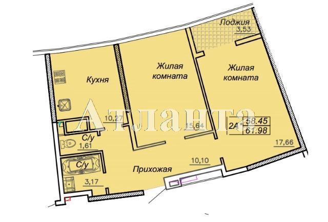 Продается 2-комнатная квартира в новострое на ул. Каманина — 54 730 у.е.