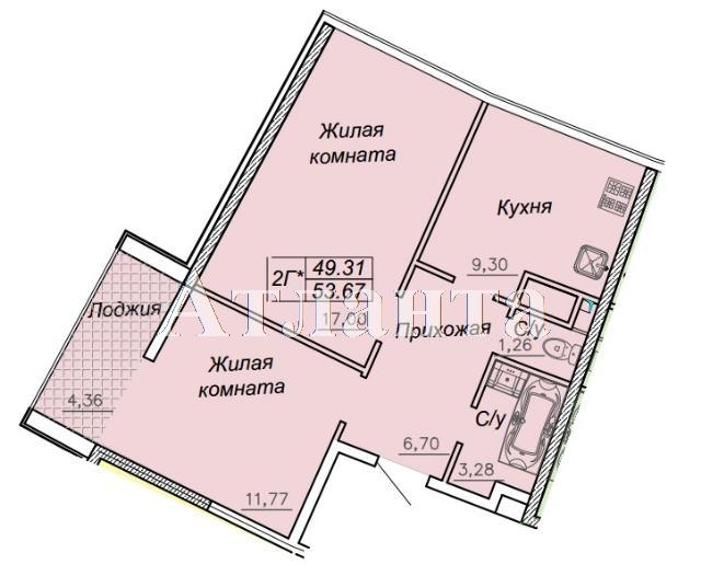 Продается 2-комнатная квартира в новострое на ул. Каманина — 47 390 у.е.