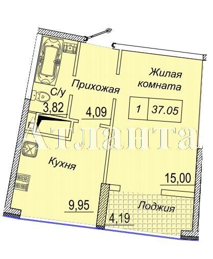 Продается 1-комнатная квартира в новострое на ул. Каманина — 37 070 у.е.