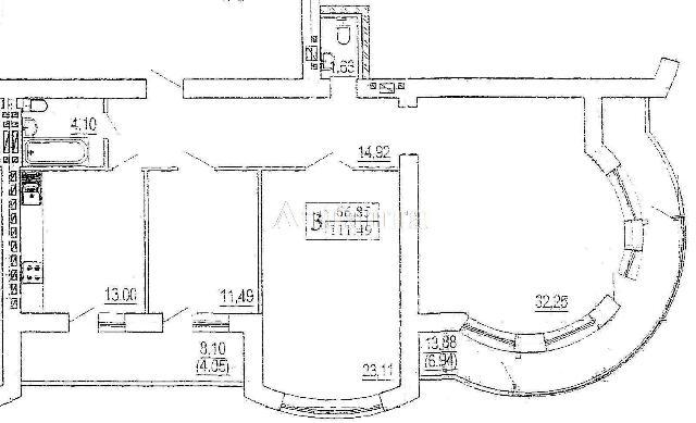 Продается 3-комнатная квартира в новострое на ул. Зоопарковая — 121 720 у.е.