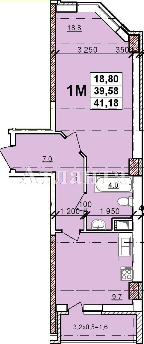 Продается 1-комнатная квартира в новострое на ул. Балковская — 27 400 у.е. (фото №3)