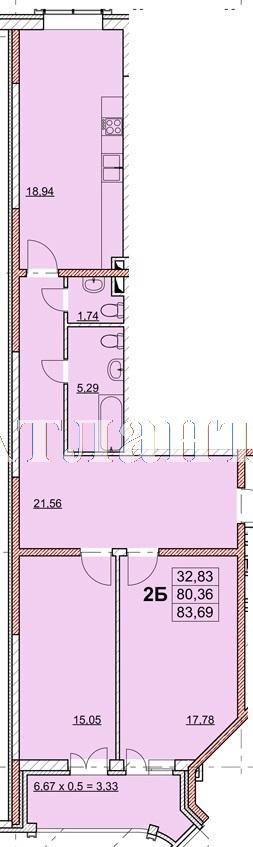 Продается 2-комнатная квартира в новострое на ул. Гагаринское Плато — 69 140 у.е.