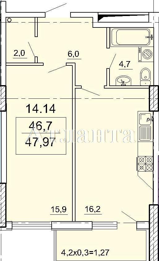 Продается 1-комнатная квартира в новострое на ул. Педагогическая — 47 000 у.е.