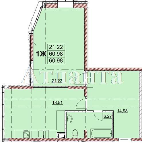 Продается 1-комнатная квартира в новострое на ул. Гагаринское Плато — 47 880 у.е.
