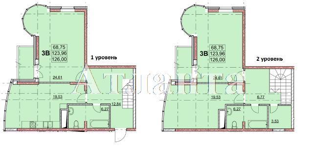 Продается Многоуровневая квартира в новострое на ул. Гагаринское Плато — 126 000 у.е.