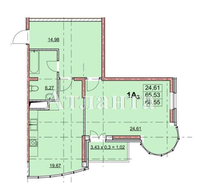 Продается 1-комнатная квартира в новострое на ул. Гагаринское Плато — 67 930 у.е.