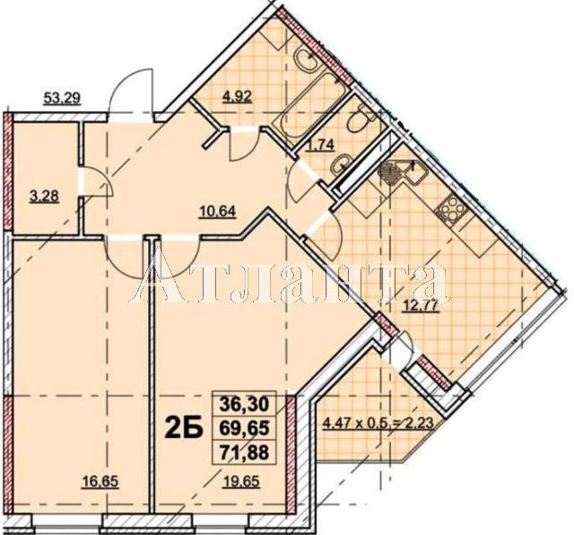 Продается 2-комнатная квартира в новострое на ул. Жаботинского — 58 330 у.е.