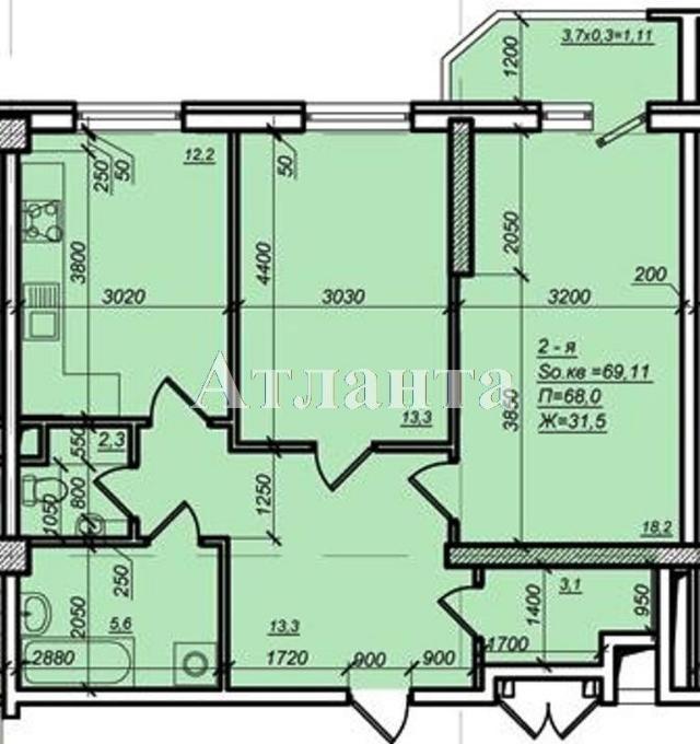 Продается 2-комнатная квартира в новострое на ул. Дюковская — 54 000 у.е.