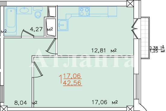 Продается 1-комнатная квартира в новострое на ул. Жемчужная — 43 200 у.е.