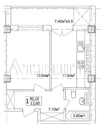 Продается 1-комнатная квартира в новострое на ул. Дача Ковалевского — 32 080 у.е.