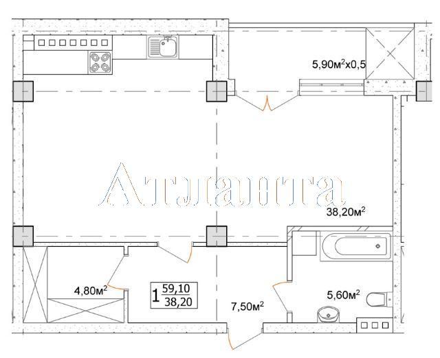 Продается 1-комнатная квартира в новострое на ул. Дача Ковалевского — 38 340 у.е.